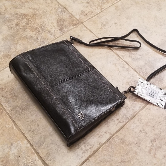 The Sak Handbags - NWT THE SAK LEATHER BLACK CROSSBODY STRAP PURSE